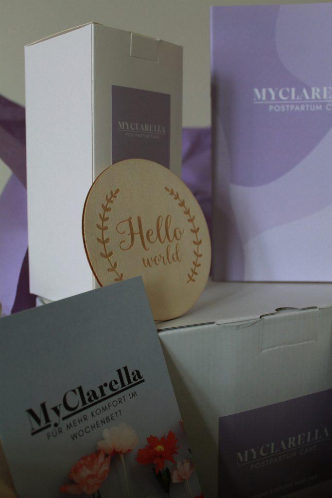 Myclarella Produkte fürs Wochenbett aus der Nähe
